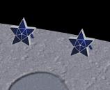 星型ソーラーパネル設置例
