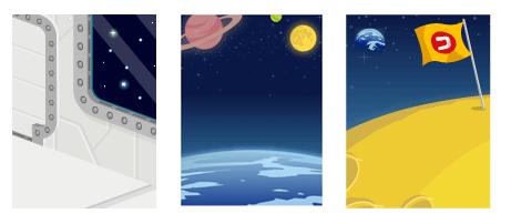 背景:宇宙船内・背景:宇宙・背景:月面