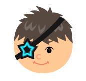 宇宙海賊の星眼帯ブルー