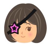 宇宙海賊の星眼帯ピンク