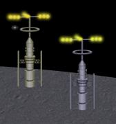 通信アンテナ 高 ゴールド/シルバー設置例
