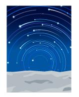 背景:星の軌跡