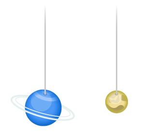 吊り下げバルーン海王星・吊り下げバルーン冥王星