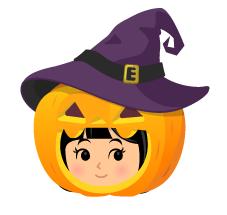 魔女帽かぼちゃかぶりもの
