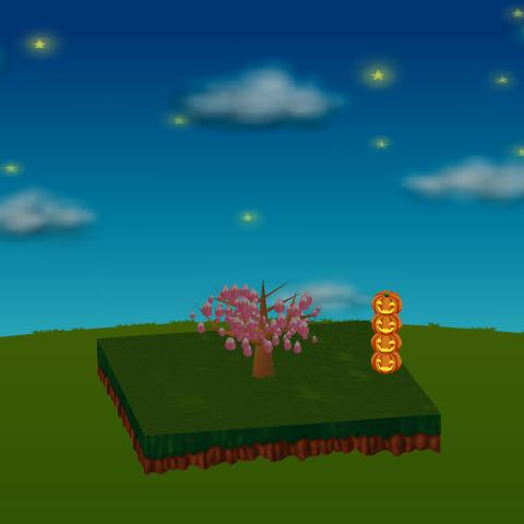 丈夫なかぼちゃランプB 小 設置例