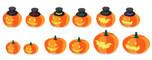 かぼちゃ帽子オレンジA・かぼちゃ帽子オレンジB・かぼちゃ帽子オレンジC・かぼちゃ帽子オレンジD・かぼちゃ帽子オレンジE・かぼちゃ帽子オレンジF・かぼちゃオレンジA・かぼちゃオレンジB・かぼちゃオレンジC・かぼちゃオレンジD・かぼちゃオレンジE・かぼちゃオレンジF