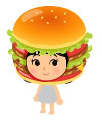 ハンバーガーかぶりもの