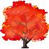 光るおばけカエデの木 赤