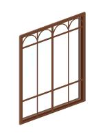 雪の朝の窓ガラス小
