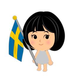 手持ちスウェーデン国旗