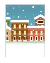 背景:冬の街並