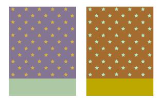 背景:星モーヴ・背景:星キャラメル
