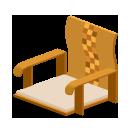 寄せ木座椅子