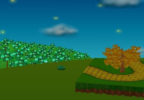 コイコイエメラルドのバラの庭園 左 設置例