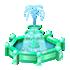 エメラルドの噴水