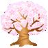 光る桜の木 大 薄ピンク