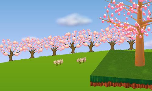 コイコイ桃源郷の並木 左 設置例