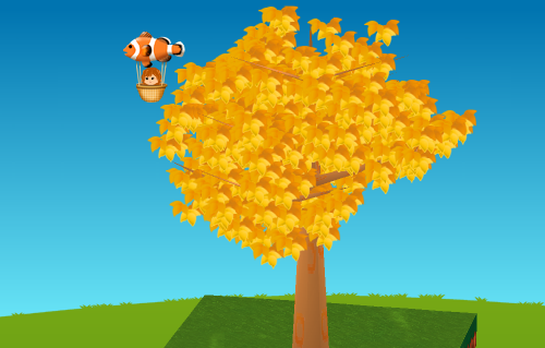 カクレクマノミ気球 設置例