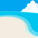 屋外エリア:海の砂浜エリア