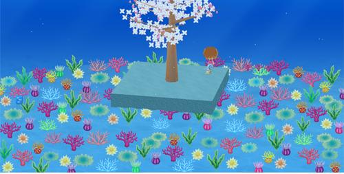 コイコイ大地の珊瑚の園 設置例