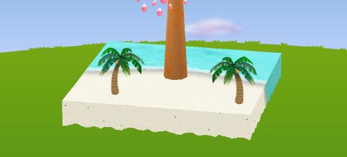 ヤシの木B 右向き/左向き 設置例