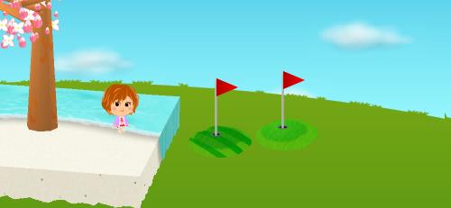 ゴルフグリーン/ゴルフグリーン 縞 設置例