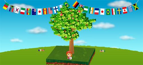 コイコイ万国旗 左/右 設置例