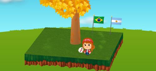 ブラジル国旗/アルゼンチン国旗 設置例