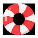 手持ち浮き輪 赤白