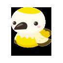 頭のせ野鳥 ホワイト