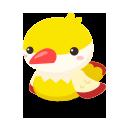 頭のせ野鳥 イエロー
