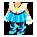 宇宙アイドル衣装 ブルー