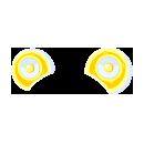 宇宙アイドル耳型スピーカー イエロー