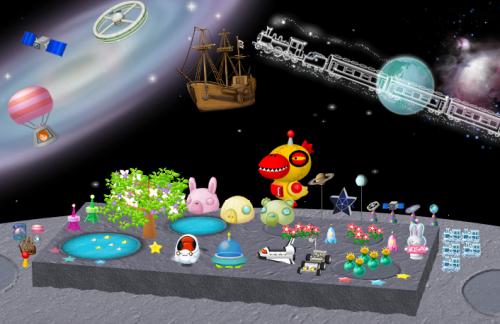 宇宙イベント再登場アイテムの設置例