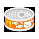 頭のせ猫缶 オレンジ