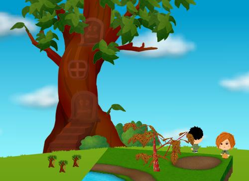 コイコイハロウィンの森の木B 設置例(昼)