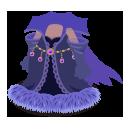 魔女ドレス ファー紫