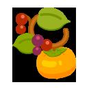 柿の髪飾り