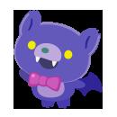 手持ちコウモリぬいぐるみ 紫