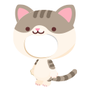 猫の着ぐるみ サバトラ