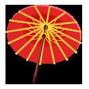 和傘 紅黄