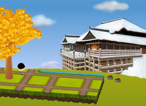 コイコイ清水寺 設置例(コイコイ清水寺を2個飾った場合)