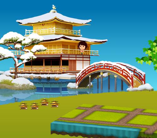 コイコイ金閣寺 設置例(コイコイ金閣寺を4個飾った場合)