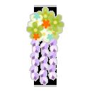 花かんざし 薄緑