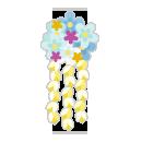 花かんざし 水色