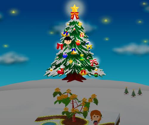 コイコイ丘のクリスマスツリー 設置例