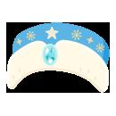 サンタトーク帽 ブルー