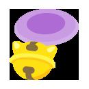 鈴つき首輪 薄紫