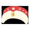 サンタトーク帽 赤