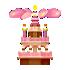 クリスマスピラミッド ピンク